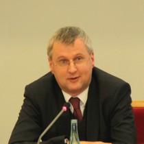 Matthias Veltin, Referatsleiter aus dem Auswärtigen Amt, beim Vortrag