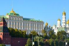 Kremel von Seiten der Moskwa.