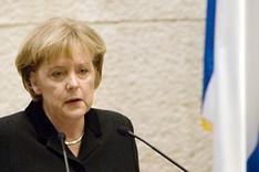 Bundeskanzlerin Angela Merkel während einer Rede vor der Knesset