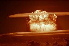 """Aufnahme der Nuklearexplosion des """"Castle Bravo""""-Atomtest der USA im März 1954"""