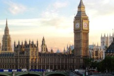 Großaufnahme der Houses of Parliament in London