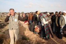 Flüchtlinge an der libysch-syrischen Grenze, 2011