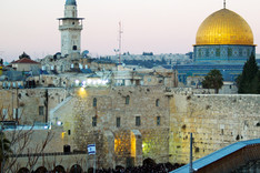 Blick auf die Altstadt von Jerusalem mit Tempelberg und Klagemauer