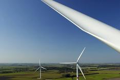 Windpark bei Braderup im Nordwesten Schleswig-Holsteins