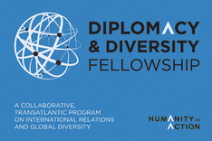 "Programmlogo ""Diplomacy and Diversity Fellowships"" der Organisation ""Humanity in Action"""