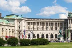 Frontalansicht der Hofburg in Wien