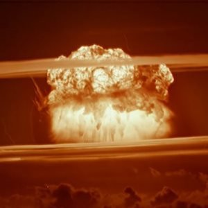 """Aufnahme der Nuklearexplosion des \""""Castle Bravo\""""-Atomtest der USA im März 1954"""
