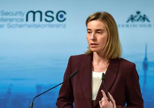 Federica Mogherini, die Hohe Repräsentantin der Europäischen Union für Außen- und Sicherheitspolitik, auf der Münchner Sicherheitskonferenz.