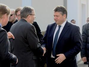Vizepräsident Staigis begrüßt Bundeswirtschaftsminister Gabriel