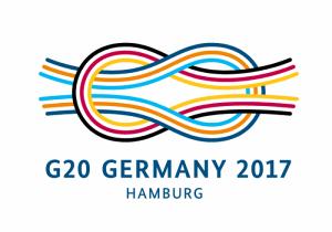 Das Symbol der deutschen G20-Präsidentschaft zeigt einen aus bunt geflochtenen Seilen gebildeten Kreuzknoten.