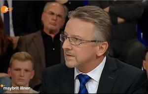 Bild von Dr. Karl-Heinz Kamp in der ZDF Talk-Runde bei Mabritt Illner am 27.02.2015
