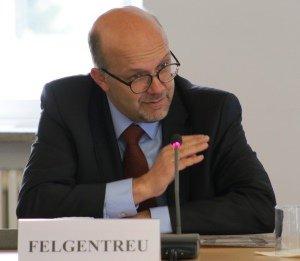 Der Bundestagsabgeordnete Dr. Fritz Felgentreu (SPD) spricht beim Kernseminar 2017 an der BAKS.
