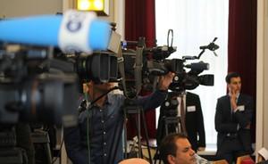 Eine Reihe von Filmkameras