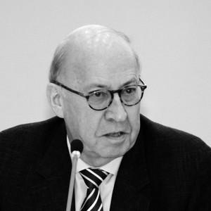 Professor Gunther Schmid beim Vortrag