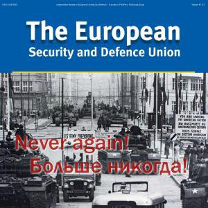"Titelseite des Magazins ""The European - Security and Defence Union\"""