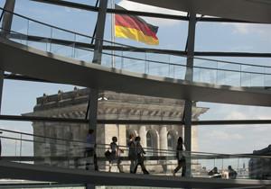 Die Kuppel des Reichstagsgebäudes von Innen
