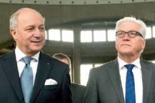 Außenminister Fabius, Steinmeier