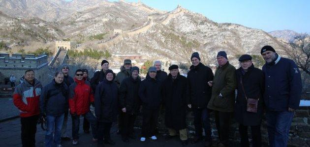 Gruppenbild der Teilnehmer vor der chinesischen Mauer