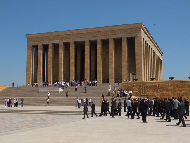 Blick auf das Atatürk-Mausoleum in Ankara.