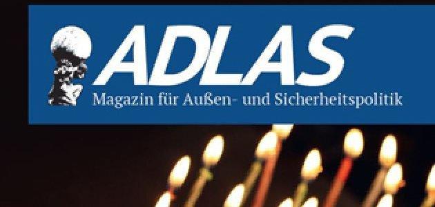 """Titelseite des \""""ADLAS Magazin für Außen- und Sicherheitspolitik"""""""