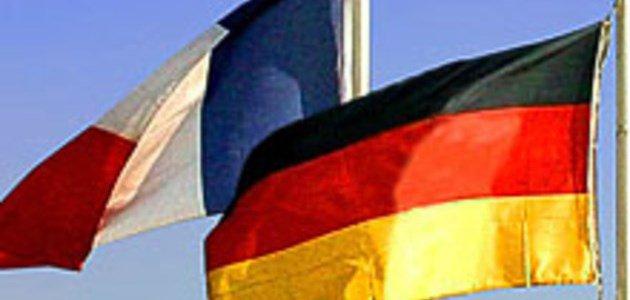 Bild mit der französischen und der deutschen Flagge