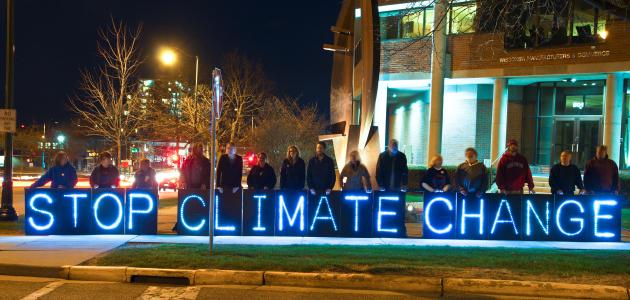 Mahnwache zur Bekämpfung des Klimawandels