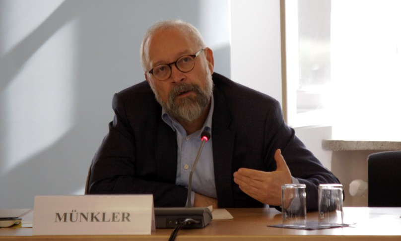 Professor Herfried Münkler bei seinem Vortrag an der Bundesakademie